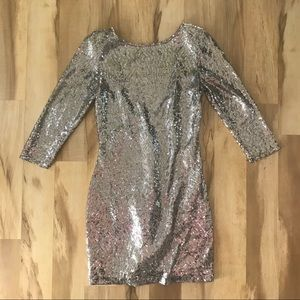 Vintage Sequin Party Dress Women's Size Medium